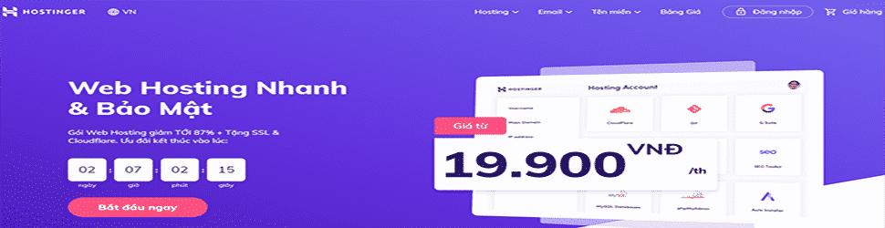 hostinger1 Hành Tinh Phát Triển Kỹ Năng 4.0 và Kiếm Tiền Online