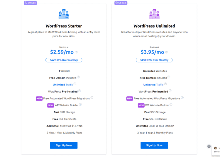 Bảng giá Dreamhost