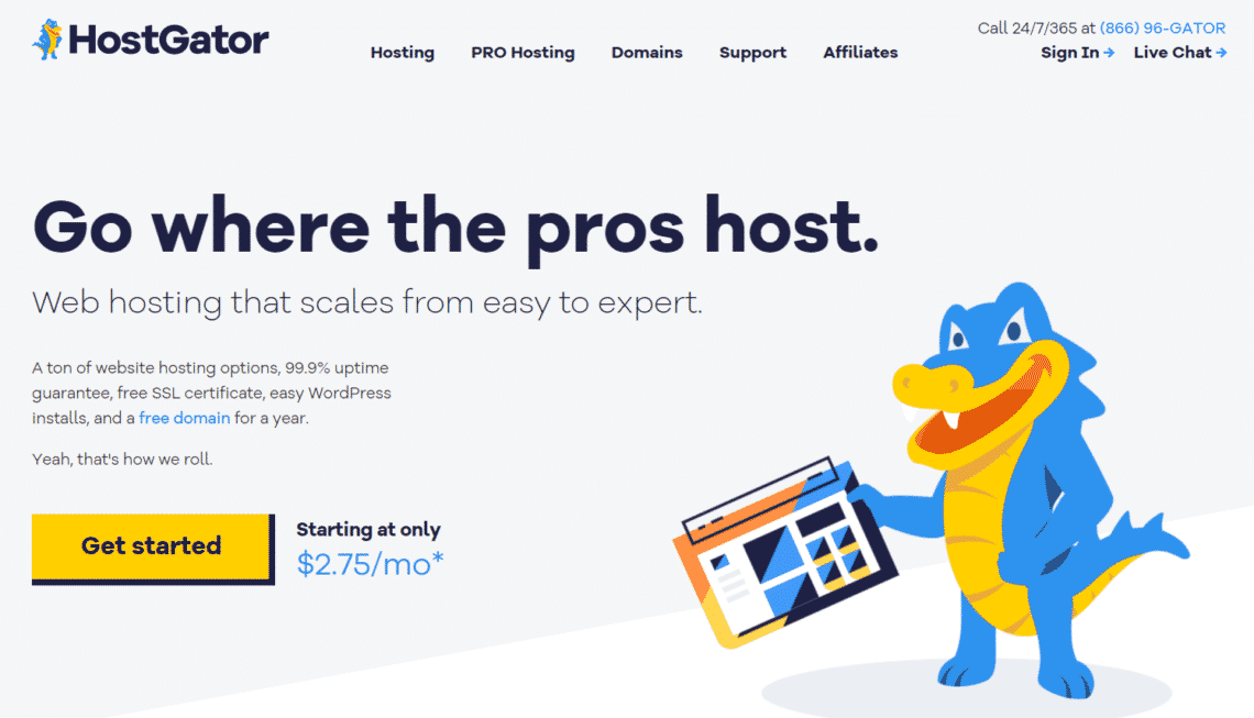 Hostgator - Hosting tối ưu cho các nhu cầu cơ bản