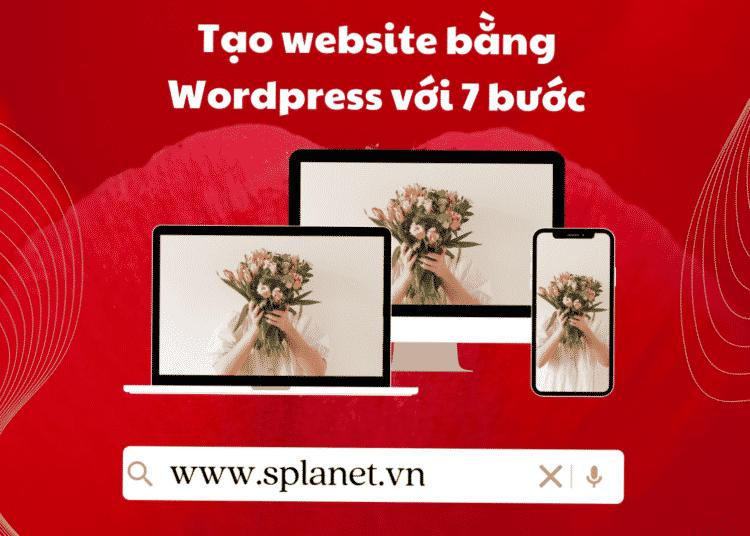 cách tạo website wordpress với 7 bước