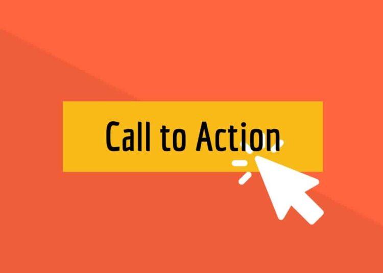 call to action - cách viết blog hay cần yếu tố kêu gọi hành động