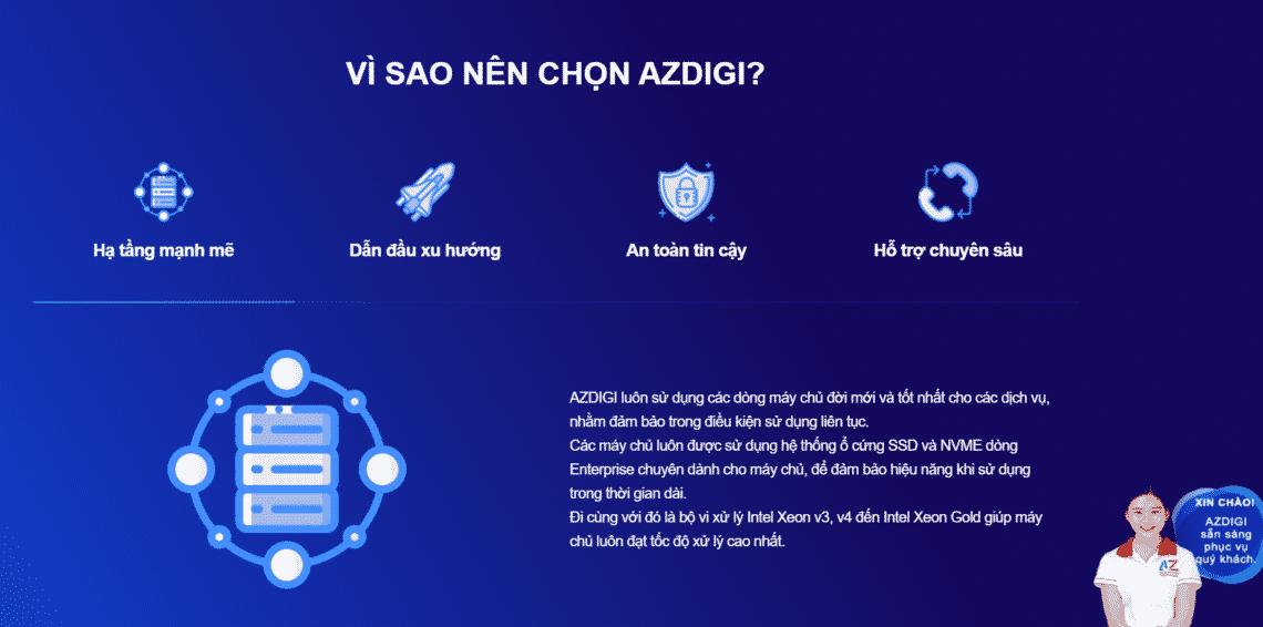 Azdigi hosting giá rẻ chất lượng cao